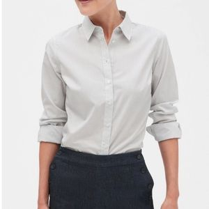 Banana Republic Stripe Fitted Shirt Size 10 NWT